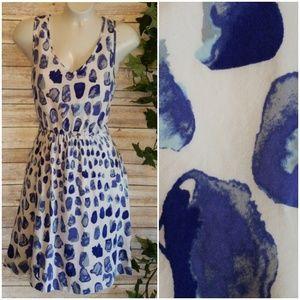 🌿Gap Eileen V Neck Spot Print Sundress Size Small